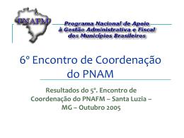 apresentação  - 300 KB - Unidade de Coordenação de Programas