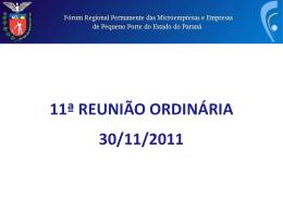 Apresentação - Fórum Permanente das Microempresas e Empresas de