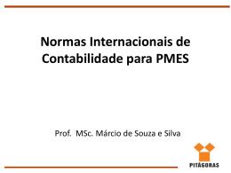 Normas Internacionais de Contabilidade para PMES