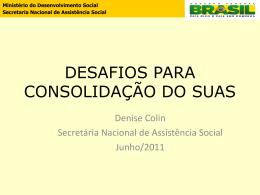 Denise Colin - Assistência e Desenvolvimento Social