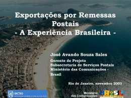 A regional proposal. José Avando Souza Sales, Ministry of