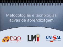 Metodologias e Tecnologias Ativas de Aprendizagem – Introdução