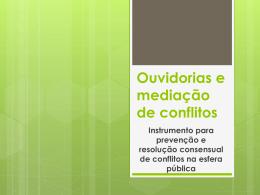 Resolução consensual de conflitos