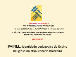 Identidade pedagógica do Ensino Religioso no atual cenário