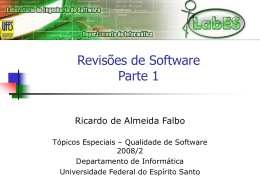 Revisões de Software - Parte 1