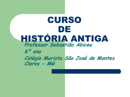 CURSO DE HISTÓRIA ANTIGA