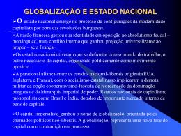 GLOBALIZAÇÃO E ESTADO NACIONAL