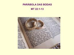 Parabolas de Mateus 22 Bodas