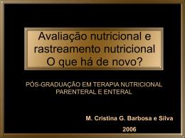 Avaliação nutricional e rastreamento nutricional
