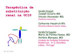 Terapêutica de substituição renal na UCIP