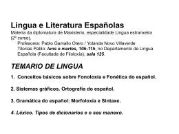 tema1a - Grupo de Gramática do Español