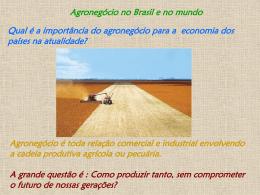 Agronegócio no Brasil e no mundo