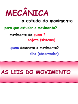 as leis do movimento - Instituto de Física / UFRJ
