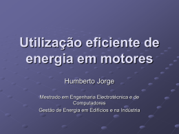 Força motriz - Laboratório de Gestão de Energia