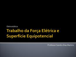 trabalho da força eletrica e superfície equipotencial