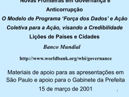 O que é Governança?