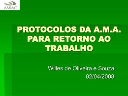 PROTOCOLOS DA A.M.A. PARA RETORNO AO TRABALHO