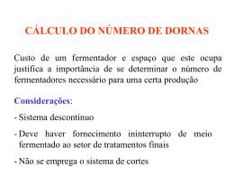 CÁLCULO DO NÚMERO DE DORNAS