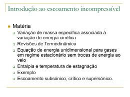 Aula 13: Introdução ao escoamento compressível