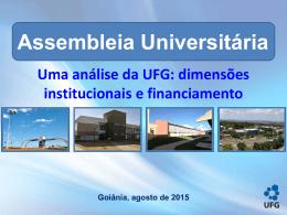 apresentação da reitoria na assembleia universitária. - SINT