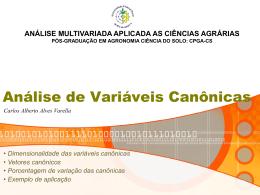 Análise de Variáveis Canônicas