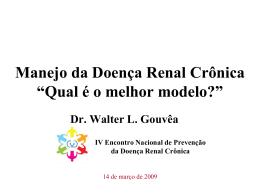 História Natural da Doença Renal Crônica