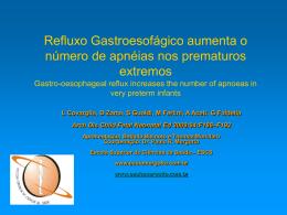Refluxo Gastroesofágico aumenta o número de apnéias nos