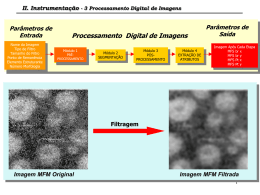 II. Instrumentação - 3 Processamento Digital de Imagens