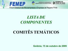 Apresentação: Lista de Componentes dos Comitês