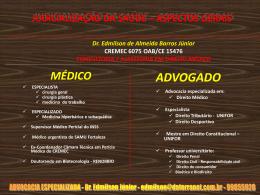 JUDICIALIZAÇÃO DA SAÚDE - barros consultoria e assessoria