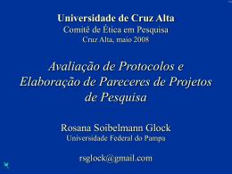 Como avaliar um Protocolo de Pesquisa?