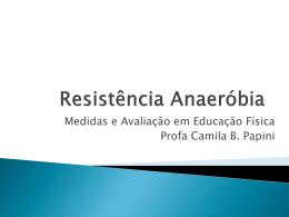 avaliação da aptidão anaeróbia