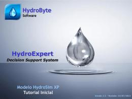 HydroByte Software - HydroSimXP Startup Tutorial