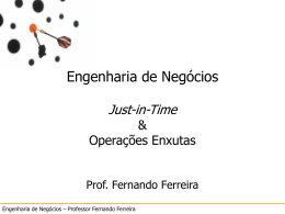 Just-in-Time - Programa de PÓS