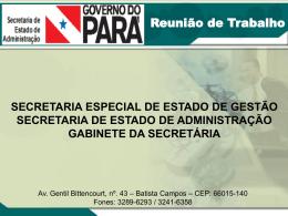 Mais informações - Sead - Governo do Estado do Pará