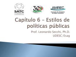 Capítulo 6 – Estilos de políticas públicas