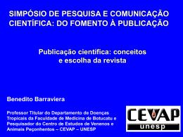 4-Publicação científica: conceitos e escolha da revista.
