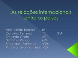 As relações internacionais entre os países