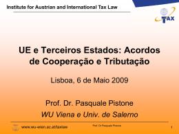 Acordos de Cooperação e Tributação
