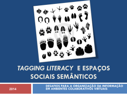 tagging literacy e espaços sociais semânticos