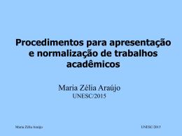 NBR 14724/2011 Estrutura do trabalho acadêmico