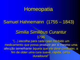 Homeopatia.