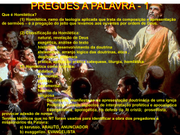 PREGUES A PALAVRA