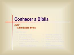Bíblia 01 -A Revelação