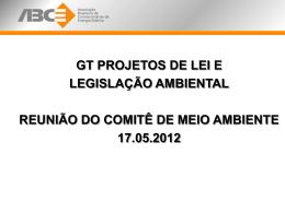 GT Projetos de Lei e Legislação Ambiental