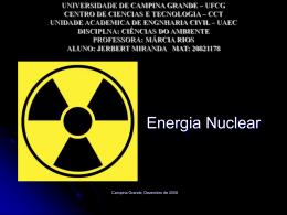 O que é Energia Nuclear?