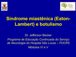 Dr. Jefferson Becker- Síndrome miastênica (Eaton