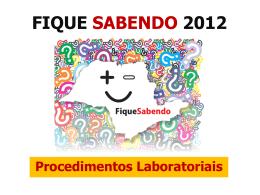 FIQUE SABENDO 2011 - Centro de Referência e Treinamento DST