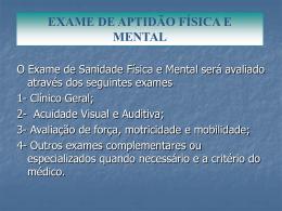 exame de aptidão física e mental