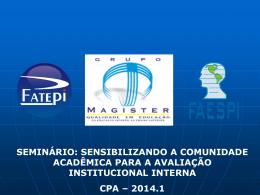 seminário para socializaçao 2013 2 cpa 2014